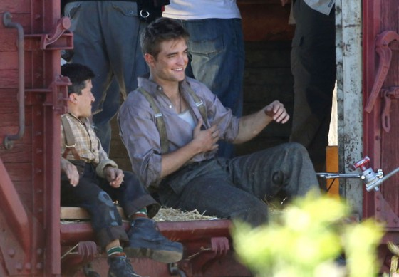 Robert Pattinson on the set of Water for Elephants in Ojai