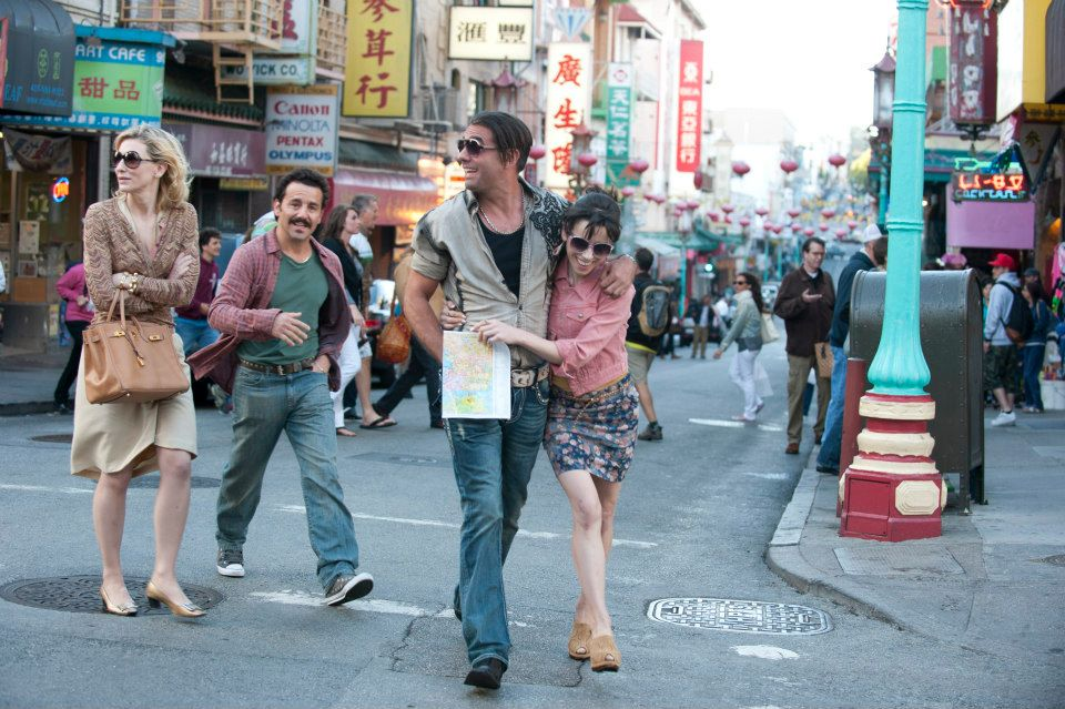 Blue Jasmine cast on the streets of San Francisco