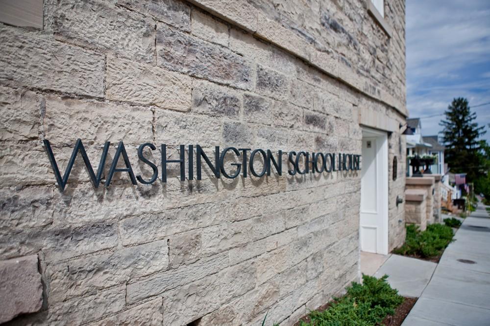 Washington-School-House-Hotel-Sign