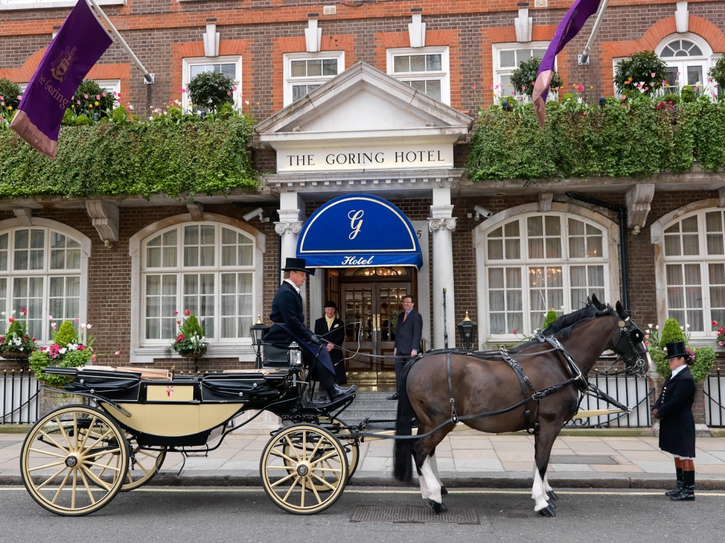 Horses and Carriage at The Goring Entrance