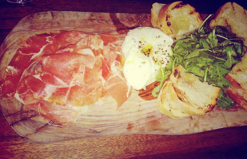 Housemade Burrata and Prosciutto at Catelli's