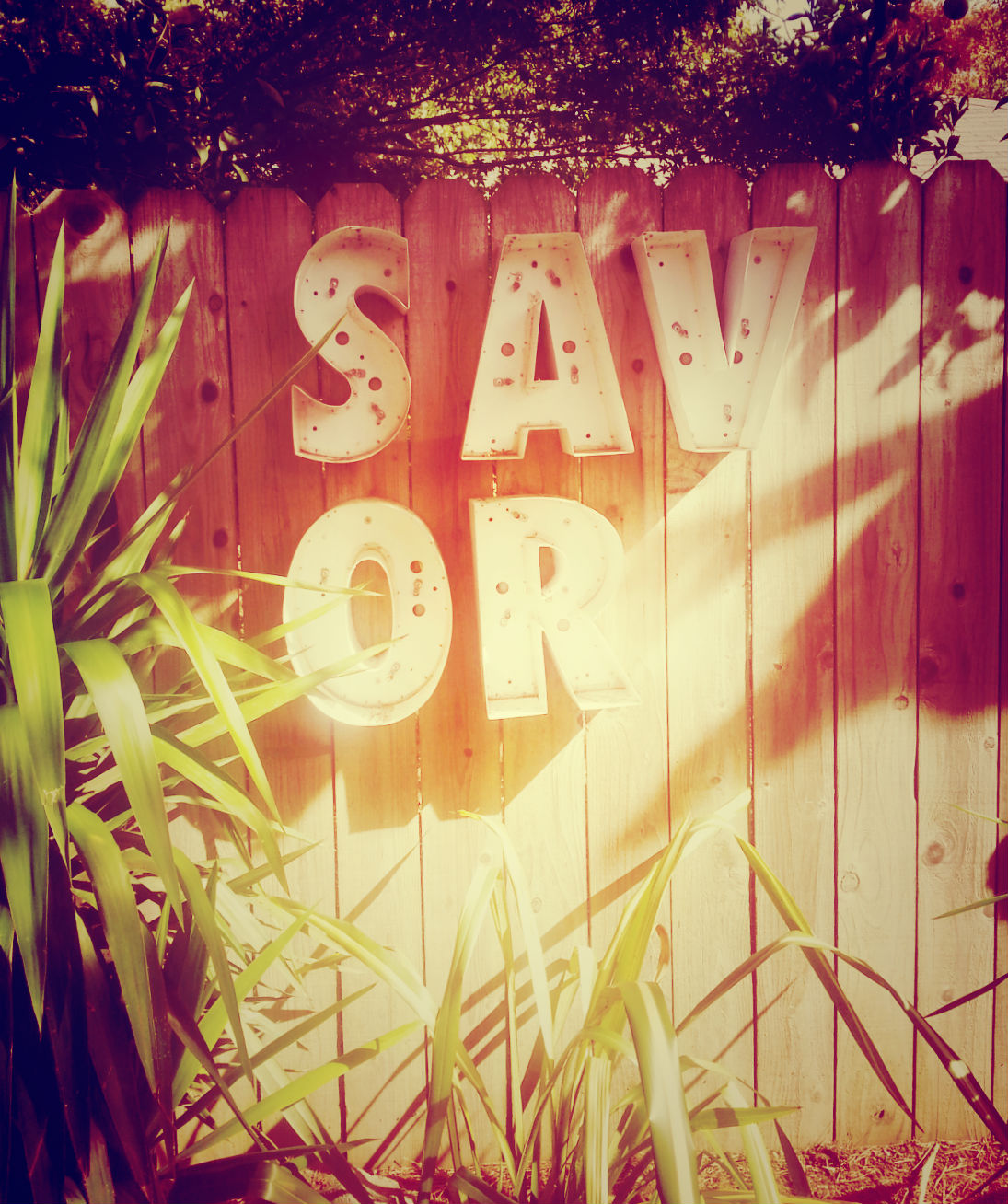 Instructive signage on the patio at Bravas