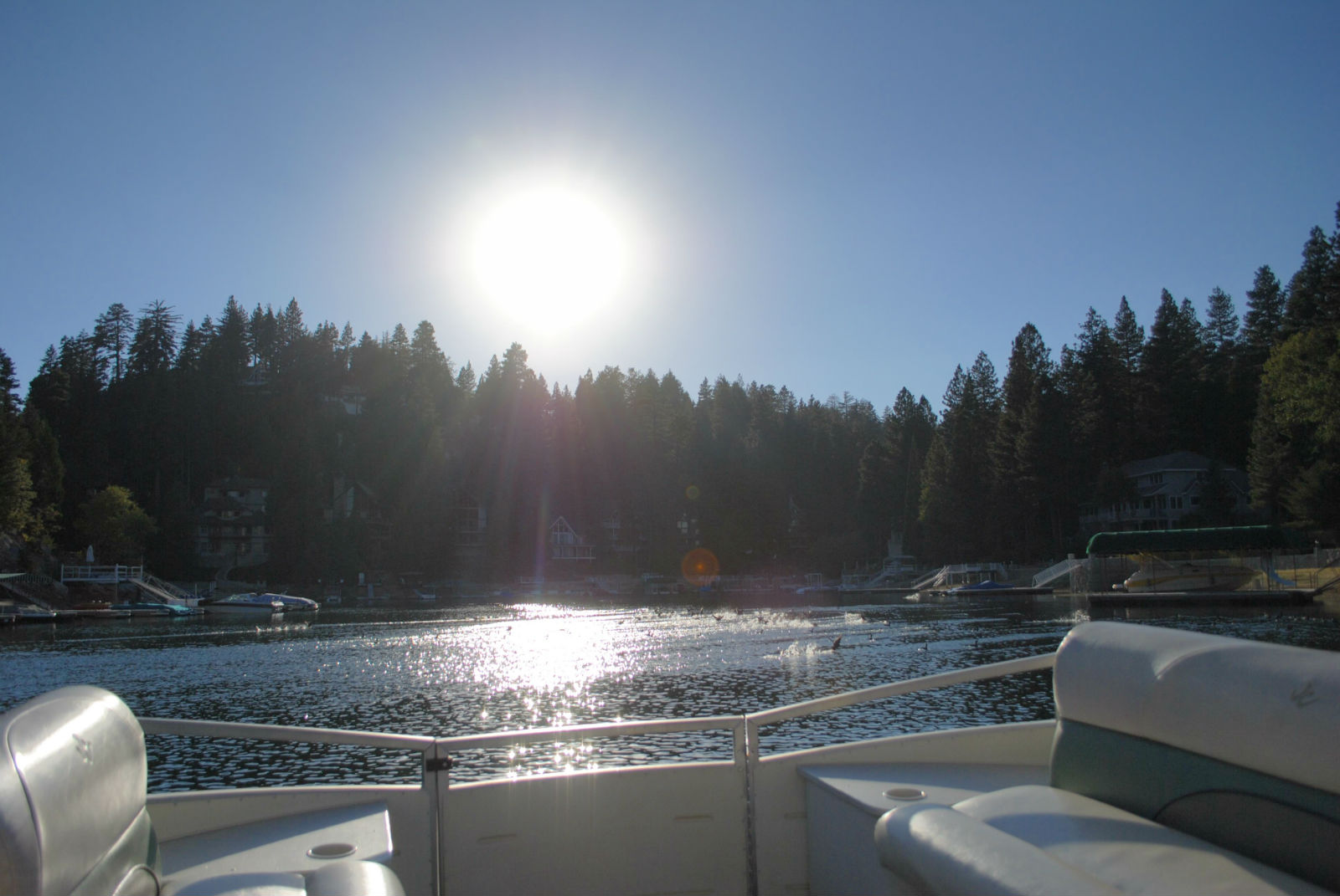 A sun dappled Lake Arrowhead