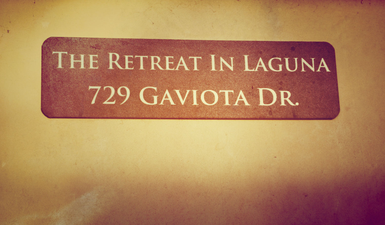 A discreet welcome to The Retreat in Laguna