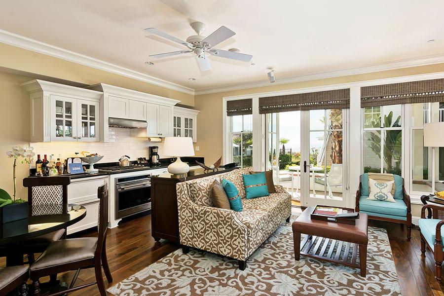 Inside a Villa Suite at The Del