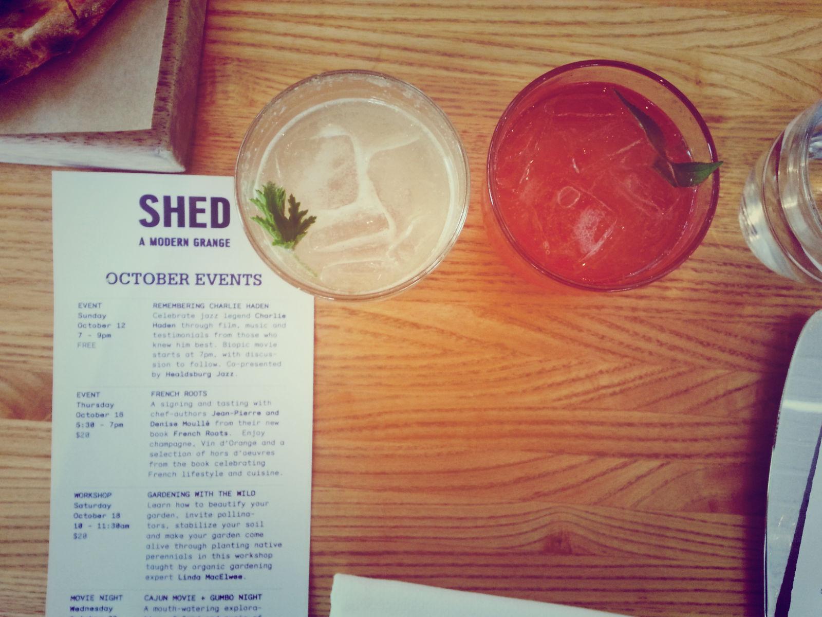 Seasonal Shrubs at Shed, Healdsburg