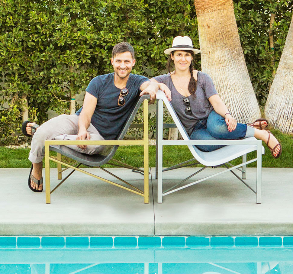 Aaron and Miranda Jones  show off their popular Evia design