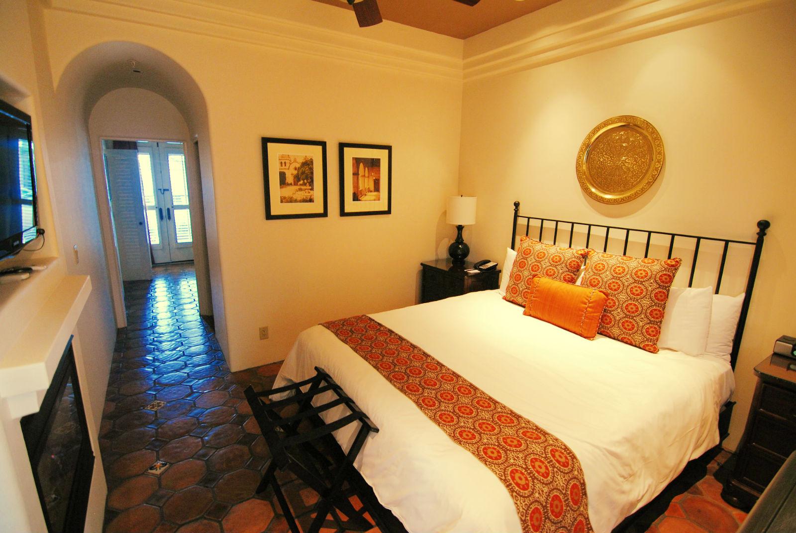 Inside King Deluxe Suite, Cypress Inn, Carmel, CA