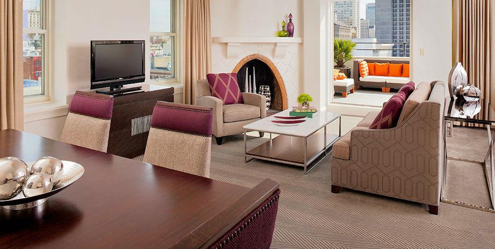 Living Room, Samuel Suite, Hotel Adagio