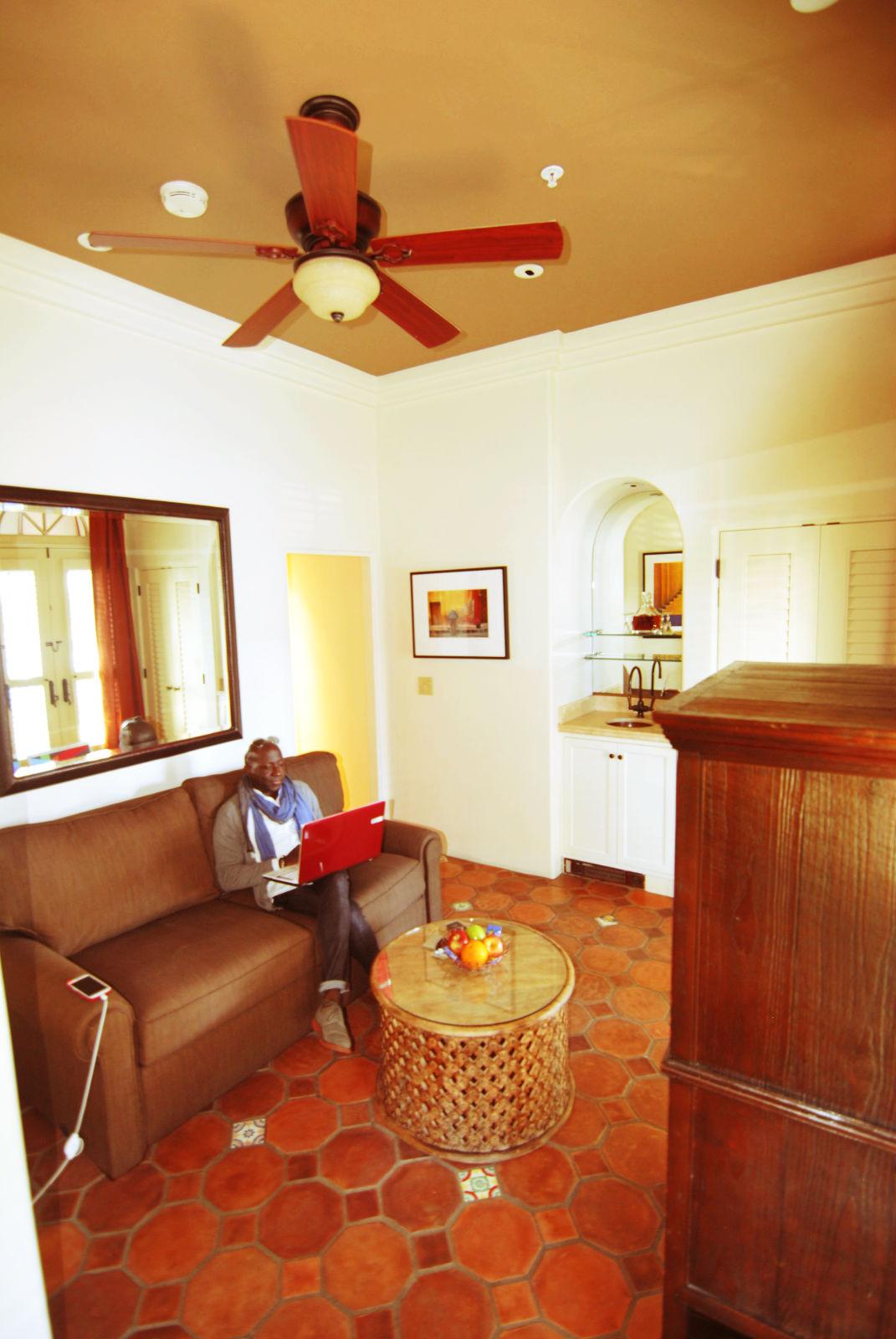 Sitting Room, King Deluxe Suite, Cypress Inn, Carmel, CA