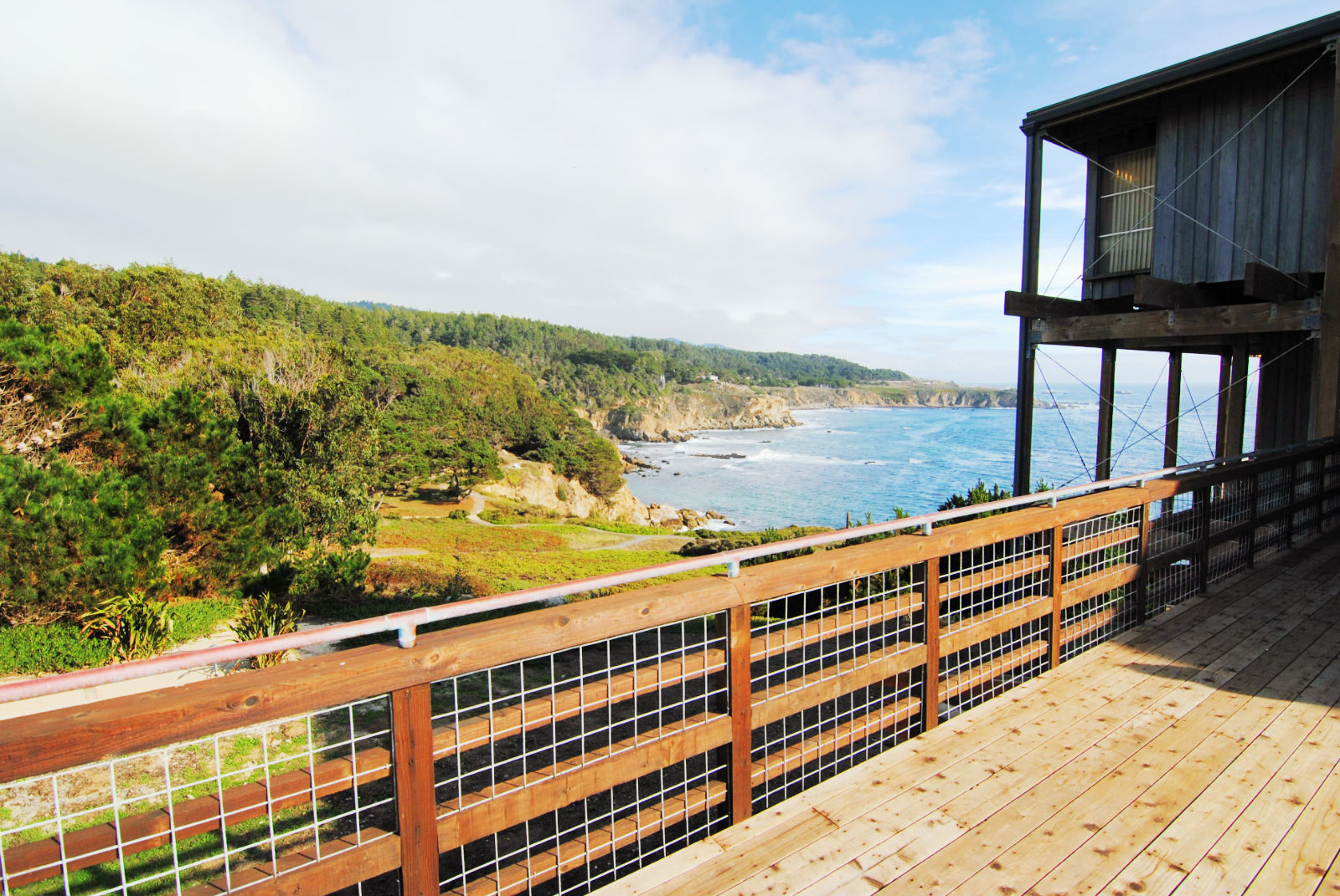 View from a deck at Timber Cove Inn
