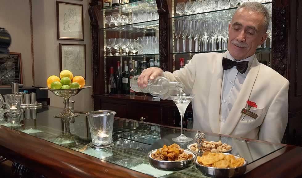 Head Barman Antonio Pizzuto in his element