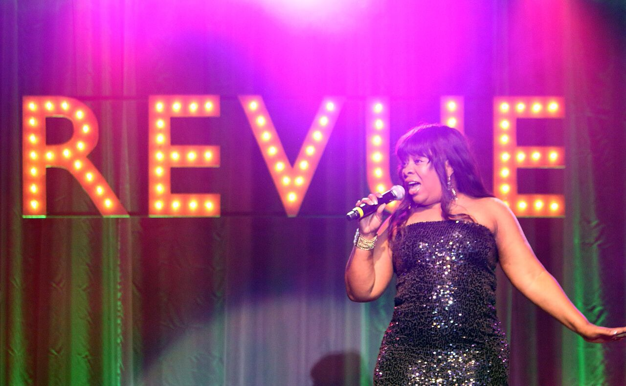 X-Factor Finalist Elaine Gibbs performs Whitney