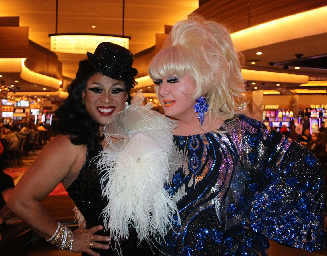 Suzy Wong and Lady Bunny post-show partying