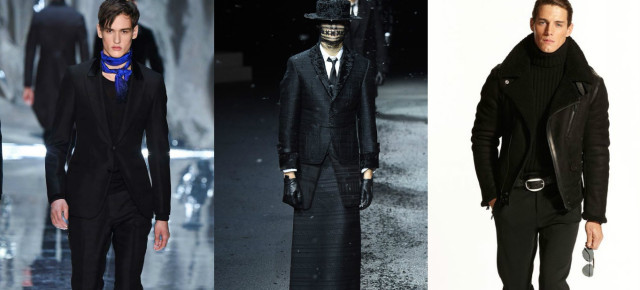 Men in Black | Best of Menswear Fall/Winter 2015