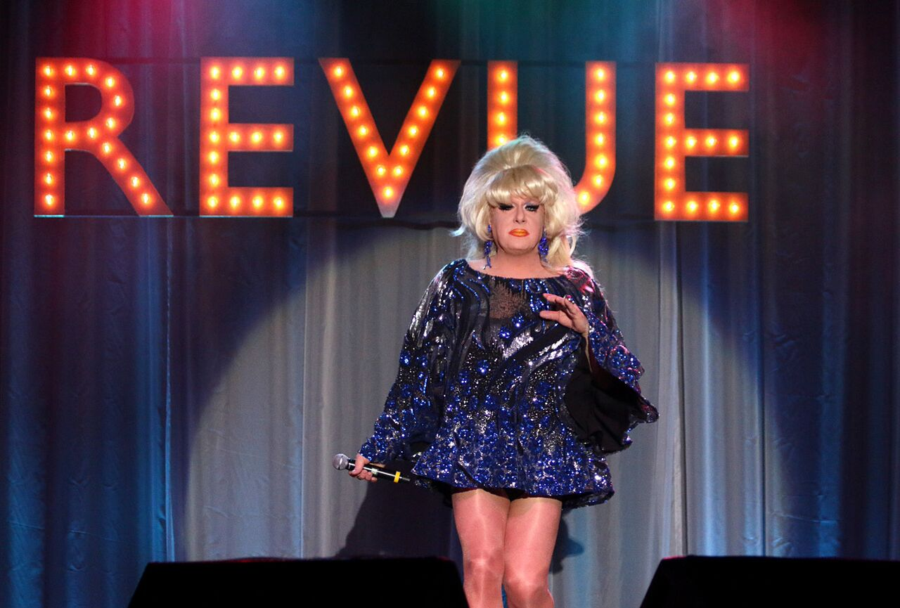 Lady Bunny Performing at REVUE